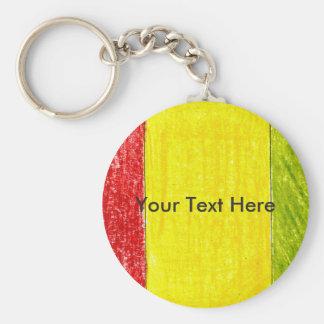 Chaveiro personalizado da bandeira da Guiné