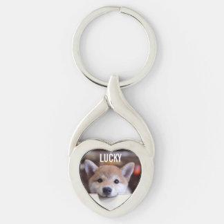 chaveiro personalizado do coração do animal de