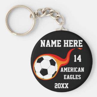 Chaveiro personalizado do futebol com nome do