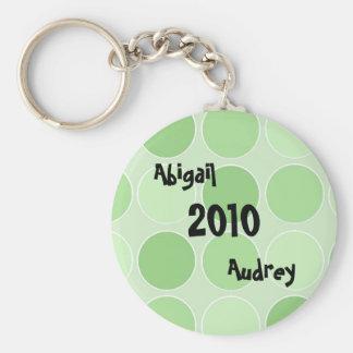 Chaveiro personalizado verde C.D. do bebê