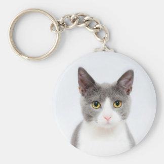 Chaveiro Personalize esta corrente chave do gato bonito com