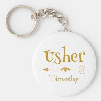 Chaveiro Personalize Usher que Wedding o presente do favor