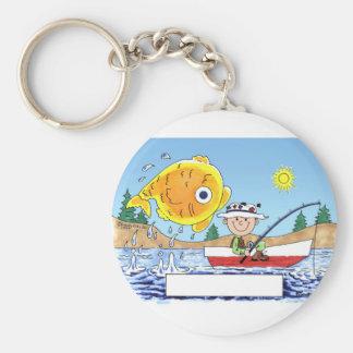 Chaveiro Pesca, pescador - desenhos animados personalizados