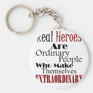 Chaveiro Pessoas extraordinárias dos heróis reais