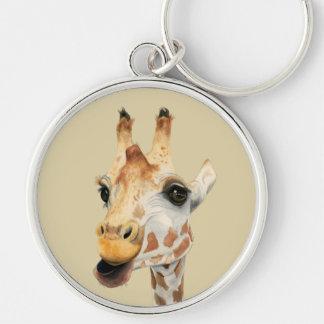 """Chaveiro Pintura da aguarela do girafa da """"mastigação"""""""