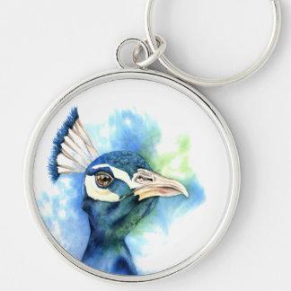 Chaveiro Pintura da aguarela do pavão
