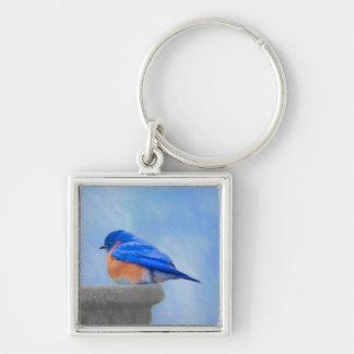 Chaveiro Pintura do Bluebird - arte original do pássaro