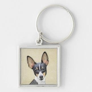 Chaveiro Pintura do Fox Terrier do brinquedo - arte