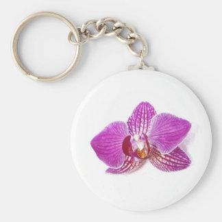Chaveiro Pintura floral do aquarel do phalaenopsis do Lilac
