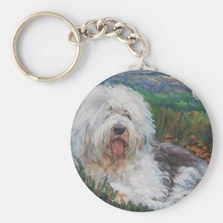 Chaveiro Pintura inglesa velha bonita da arte do cão do