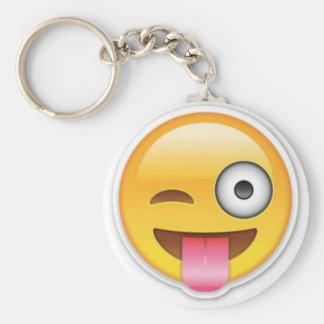 Chaveiro Piscar os olhos insolente do emoji do smiley