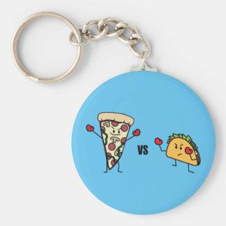 Chaveiro Pizza de Pepperoni CONTRA o Taco: Mexicano contra