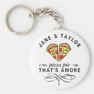 Chaveiro Pizza do amor personalizada