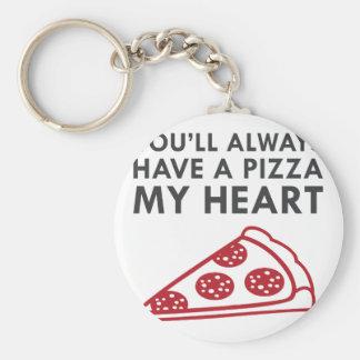 Chaveiro Pizza meu coração
