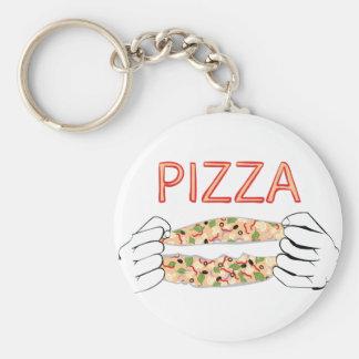 Chaveiro Pizza saboroso dos desenhos animados e Hands3