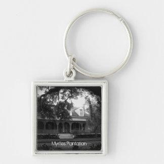 Chaveiro Plantação dos Myrtles em preto e branco