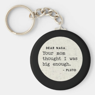 Chaveiro Pluto ERA grande bastante. Humor cósmico