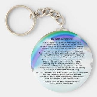 Chaveiro Poema da ponte do arco-íris