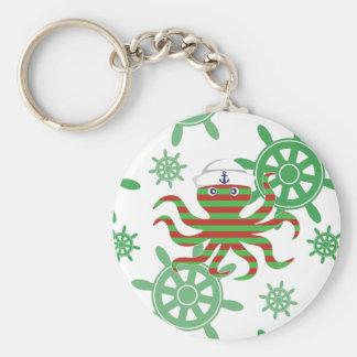 Chaveiro Polvo do bebê do marinheiro do Natal