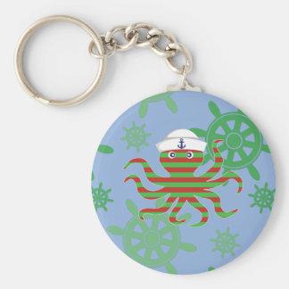 Chaveiro Polvo do bebê do marinheiro do Natal com fundo