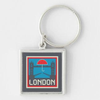 Chaveiro Ponte de Londres com guarda-chuva