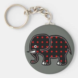 Chaveiro pontilha o elefante