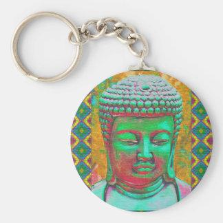 Chaveiro Pop de Buddha no verde e no vermelho da cerceta