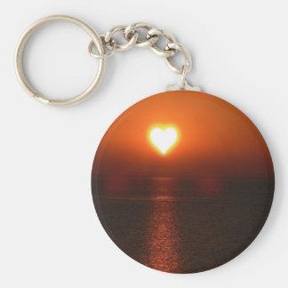 Chaveiro Por do sol do mar do sol do coração