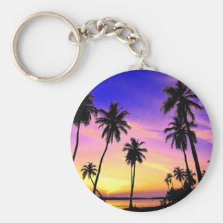Chaveiro Por do sol tropical da ilha sobre Sri Lanka