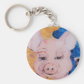 Chaveiro Porco da fita azul