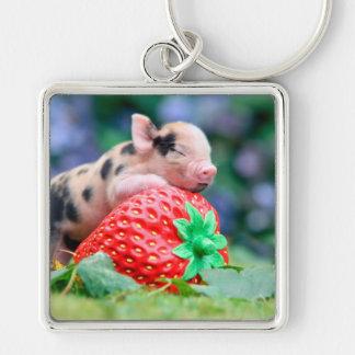 Chaveiro porco da morango