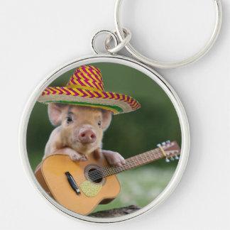 Chaveiro porco mexicano - guitarra do porco - porco