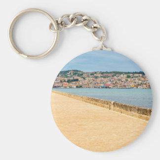 Chaveiro Porto grego Argostoli da cidade com a estrada na