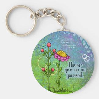 Chaveiro positivo adorável da flor do Doodle do