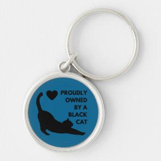 Chaveiro Possuído orgulhosa por um gato preto