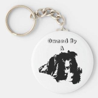 Chaveiro Possuído por um cão bonito de border collie