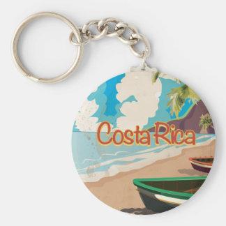 Chaveiro Poster das viagens vintage de Costa Rica