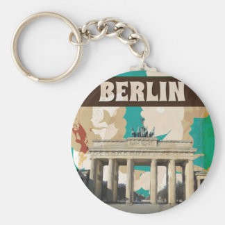 Chaveiro Poster de viagens de Berlim do vintage