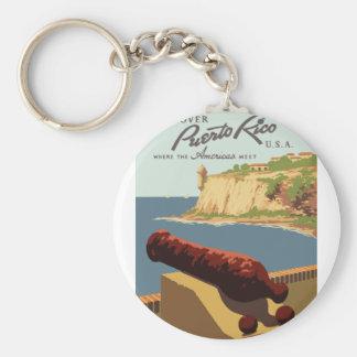 Chaveiro Poster Puerto Rico das viagens vintage