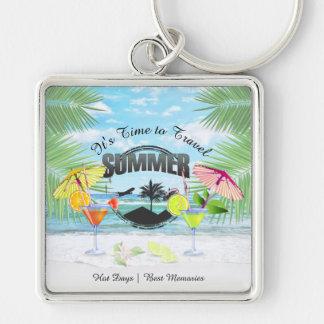 Chaveiro Praia tropical, férias de verão | personalizada