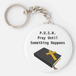 Chaveiro Pray até que algo aconteça