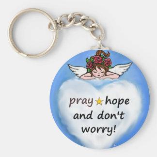 Chaveiro Pray, esperança e não se preocupe!