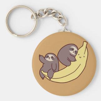 Chaveiro Preguiças gigantes da banana