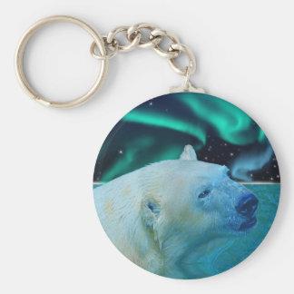 Chaveiro Presente ártico dos animais selvagens do urso