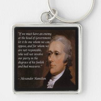 """Chaveiro """"Presente do líder inimigo"""" de Alexander Hamilton"""