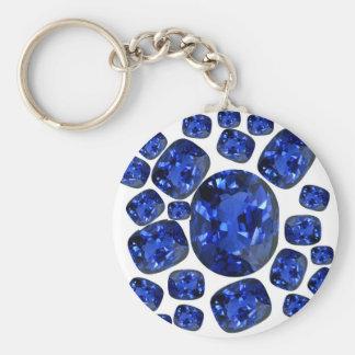 Chaveiro Presentes de Birthstone das gemas da safira por