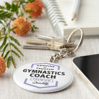 Chaveiro Presentes do logotipo do treinador da ginástica