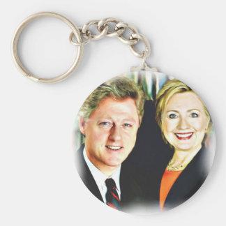 Chaveiro Presidente Bill Clinton & presidente Hillary