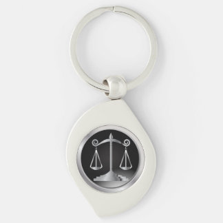 Chaveiro Preto e escalas da prata da lei de justiça |