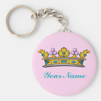 Chaveiro Princesa personalizada Coroa no rosa
